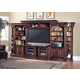 Parker House Huntington Expandable Open Entertainment Wall in Vintage Pecan CODE:UNIV20 for 20% Off