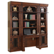 Parker House Leonardo 4 Piece Library Desk Wall in Dark Chestnut