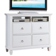 ACME Merivale TV Console with Four Drawers in White 22427