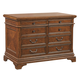 Aspenhome Hawthorne 5-Drawer Combo File in Brown Cherry I26-378 APPX DELIVERY IN 12 WEEKS