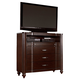 Hillsdale Roma Media Chest in Rich Cherry 1225-790