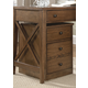 Liberty Hearthstone Mobile File Cabinet in Rustic Oak 382-HO146