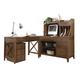 Liberty Hearthstone Writing Desk Home Office Set in Rustic Oak