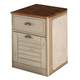 Liberty Ocean Isle Mobile File Cabinet in Bisque with Natural Pine 303-HO146