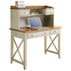 Liberty Ocean Isle Writing Desk and Hutch in Bisque with Natural Pine
