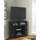 Shay Corner TV Stand with Fireplace Option in Black W271-12