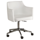 Baraga Home Office Swivel Desk Chair in White H410-01A