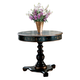 Butler Specialty Hand Painted Top Accent Hall Table in Regal Black 0563069