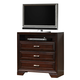 Crown Mark Furniture Jacob Media Chest in Rich Brown B6510-7