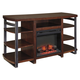 Challiman Large TV Stand w/ Fireplace in Rustic Brown