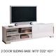 ESF Furniture Capri TV Stand in White