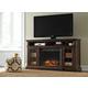 Roddinton XL TV Stand w/ Infrared Fireplace in Dark Brown