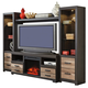 Harlinton Entertainment Center w/Fireplace Option in Warm Gray