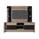 Manhattan Comfort Morning Side Entertainment Center in Nature and Black 22956