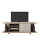 Manhattan Comfort 5-Shelf Carnegie TV Stand in Nature and Nude 14555