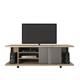 Manhattan Comfort 5-Shelf Carnegie TV Stand in Nature and Metallic Onyx 14568