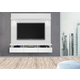 Manhattan Comfort Cabrini 1.8 Floating Wall Theater Entertainment Center in White Gloss 23752