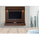 Manhattan Comfort Cabrini 1.8 Floating Wall Theater Entertainment Center in Nut Brown 23751