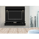 Manhattan Comfort Cabrini 1.8 Floating Wall Theater Entertainment Center in Black 23753