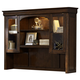 Liberty Furniture Chateau Valley Jr Executive Credenza Hutch in Brown Cherry 901-HO131