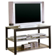 Coaster TV Stand in Black and Silver 700612