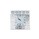AICO Montreal Square Wall Clock w/Crystal Accents FS-MNTRL277