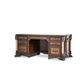 AICO Victoria Palace Desk w/ Glass Top in Light Espresso