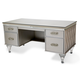 Aico Bel Air Park Desk in Champagne 9002207-201
