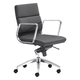 Zuo Modern Engineer Low Back Office Chair in Black 205895