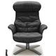 J&M  Furniture The Karma Lounge Chair in Black 1804813