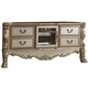Acme Dresden TV Console in Gold Patina 91333