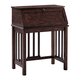 Harpan Home Office Drop Front Desk in Reddish Brown
