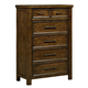 Standard Furniture Cameron 6-Drawer Chest in Tobacco Brown 85155