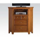Acme Lacey Corner TV Console in Cherry Oak 30562
