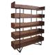 Coast to Coast Imports 5 Shelf Bookcase in Light Brown Matte 15232