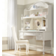 Legacy Classic Kids Harmony Desk with Hutch in Antique Linen White CLEARANCE