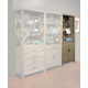 Parker House Midtown Bunching Bookcase w/ Door in Smoked Grey MID#330 CODE:UNIV20 for 20% off