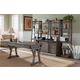 Liberty Stone Brook 4pcs Office Funiture Set in Rustic Saddle EST SHIP TIME IS 4 WEEKS