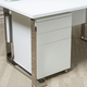 AICO Furniture Halo File Cabinet with Casters in Glossy White 9018209-116