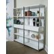 AICO Furniture Halo Bookshelf with Drawers in Glossy White 9018100-116