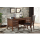 Homelegance Frazier Park 2pc Office Furniture Set in Brown Cherry