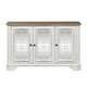 Liberty Magnolia Manor TV Console in Antique White 244-OT1031 EST SHIP TIME IS 4 WEEKS