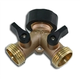 Orbit 91700 Brass Hose Y with Shut-off