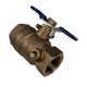 Lead Free Brass Backflow Ball Valve with Test Port 1