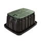 Rain Bird VBJMBH Jumbo Rectangular Valve Box with Locking Green Lid