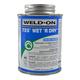 Weld-On 725 Wet R Dry Aqua Blue PVC Cement 8 oz | 725-010