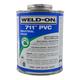 Weld-On 711 Industrial Grade Gray PVC Cement 16 oz   711-020