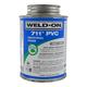 Weld-On 711 Industrial Grade Gray PVC Cement 8 oz | 711-010