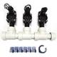 Hydro-Rain HRP-100-PF-PVC 3 Valve Manifold 1