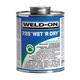 Weld On Wet/Dry Aqua Blue PVC Cement